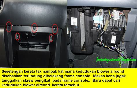 starting automobil diy service blower aircond kereta