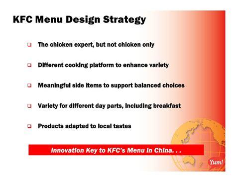 layout strategy of kfc yum monday master file webcast