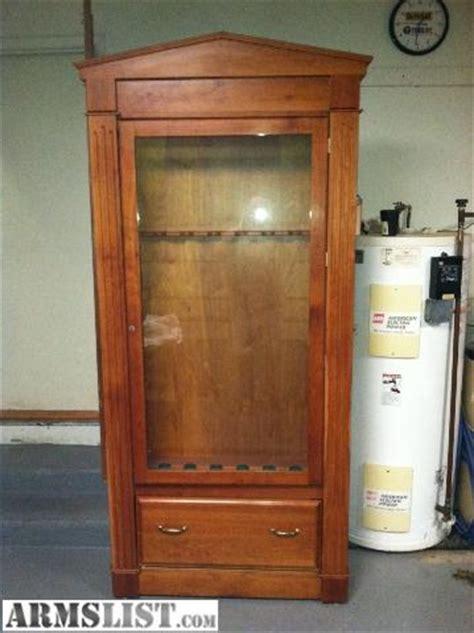 wood gun cabinet for sale armslist for sale cherry wood gun cabinet
