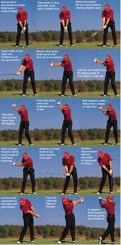 proper iron swing swing sequence sergio garcia golf digest