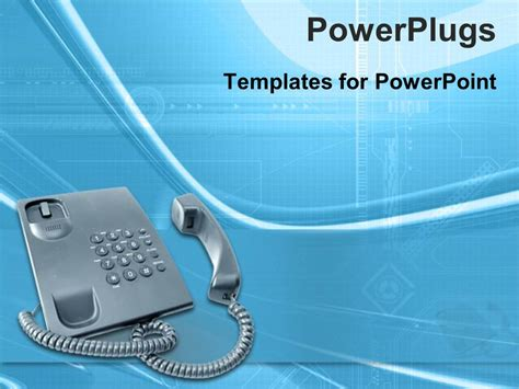 good themes for mobile free download powerpoint template a telephone of gray color with bluish