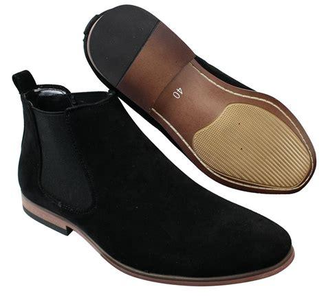 Sepatu Poham Casual Suede 02 39 43 mens italian suede slip on ankle boots smart casual desert chelsea dealer ebay