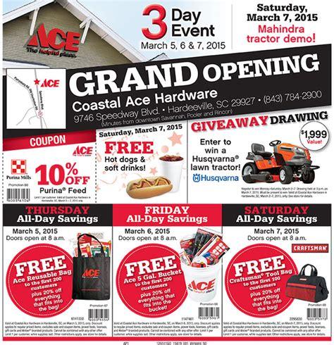 ace hardware promo koper grand opening coupons