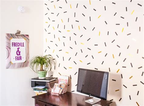 Oversized Wall Murals diy oversized confetti mural with washi tape shelterness