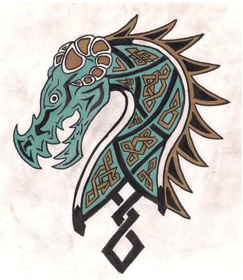 nordic ish dragon by kalfiez fangwyrm on deviantart