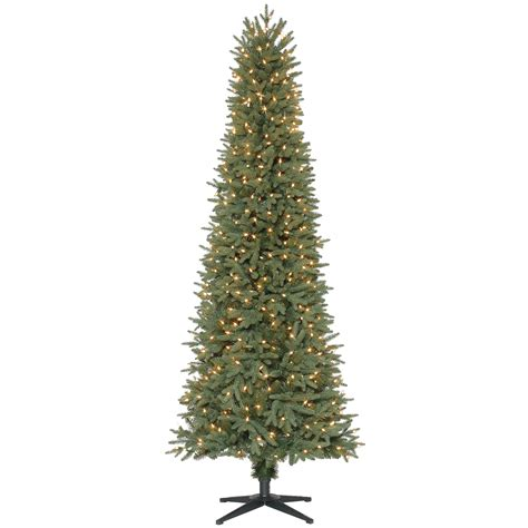 searscom white christmas tree donner blitzen incorporated 7 500 clear pre lit cleveland pencil pine tree