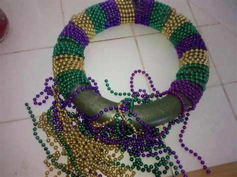 mardi gras bead wreath the thrills keepers tales don t throw out your
