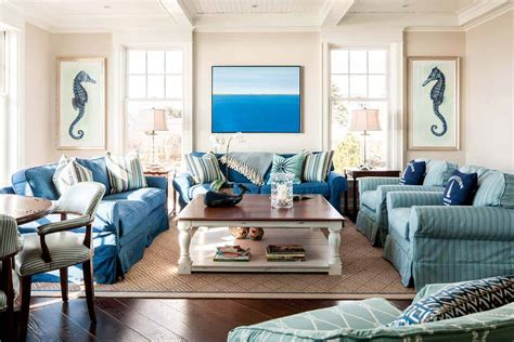 Nautical Style Living Room by Dreamy Seaside Home In Maine With New Style