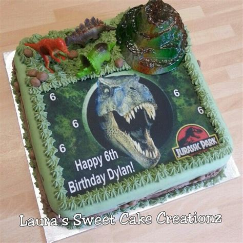 Jurassic Park Cake Decorations by Pin By Emily Vann On Bryants 7th Birthday Idead