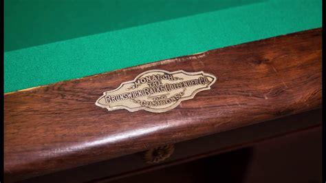 brunswick balke collender pool table 1905 brunswick balke collander pool table