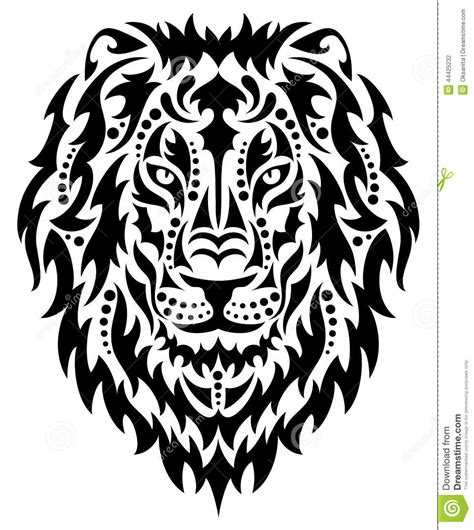 head of a lion stock vector illustration of head male