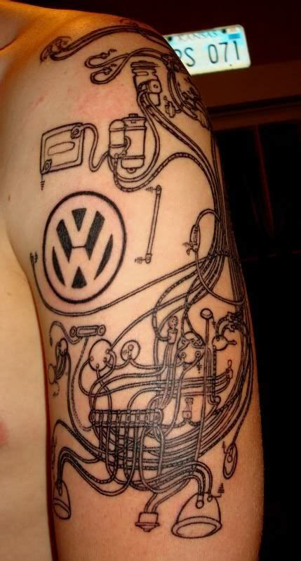 vw cervan tattoos designs 53 best vw tattoos images on ideas