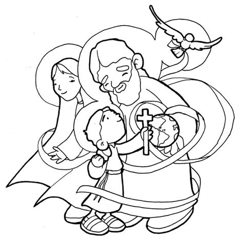 holy family trinity coloring page catholic coloring