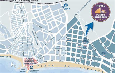 printable street map benidorm spain tourist map