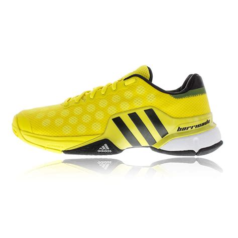 tennis sport shoes adidas barricade 2015 mens yellow tennis court sport shoes