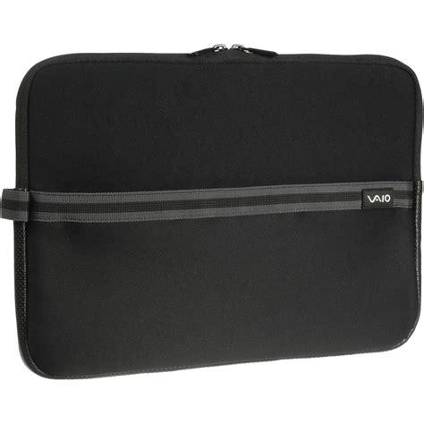 sony 15 quot vaio laptop sleeve black vgpamn1c15 b b h photo