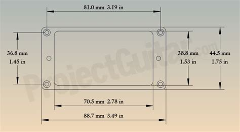 Router Basics Humbucker Pickup Routing With Pickup Ring Instrument Building Projectguitar Com Humbucker Template Pdf