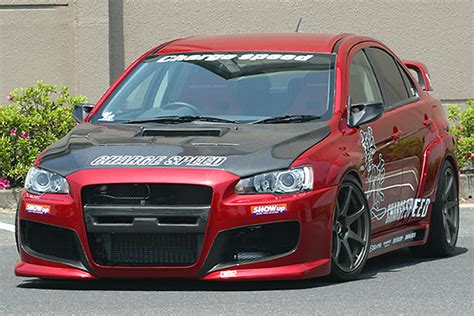 widebody evo chargespeed gekisoku wide body kit evo x nengun