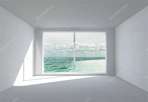 big white room quarto vazio de branco uma janela grande e uma vista do oceano foto stock 169 irogova 28867055