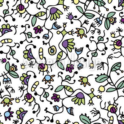 doodle flora doodle flora seamless vector pattern