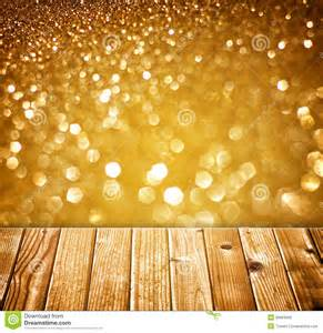 Mr Christmas Lights And Sounds Textured Wood Planks And Warm Golden Bokeh Lights Effect
