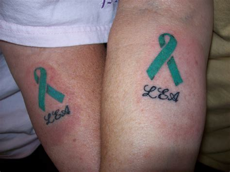 teal ribbon tattoo designs cancer ribbon tattoos designs ideas and meaning tattoos