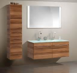 Double sink modern bathroom cabinet with different color finish modern