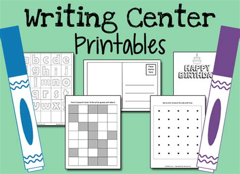 printables for kindergarten centers writing center printables prekinders