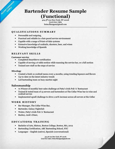 functional resume format sles functional resume exles writing guide resume companion