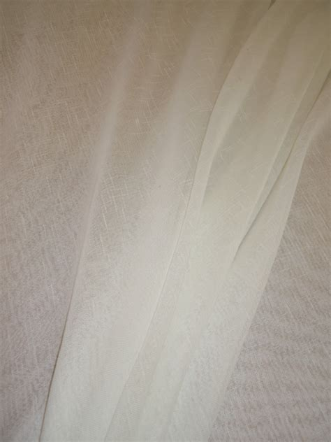 window sheer fabric wwf extra wide sheer curtain fabric in ivory