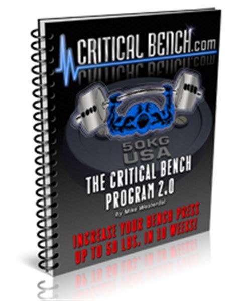 fastest way to increase bench press bench press program
