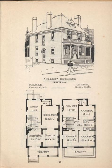 house plans 1920s 4 square house plan 2 story 1920s vintage house plan artistic city houses no 43