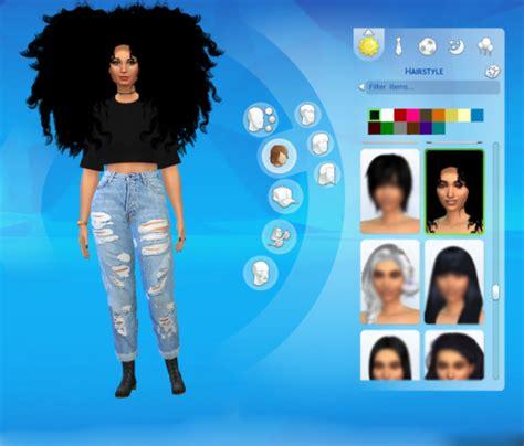 the sims 4 natural curly hair curly hair sims tumblr