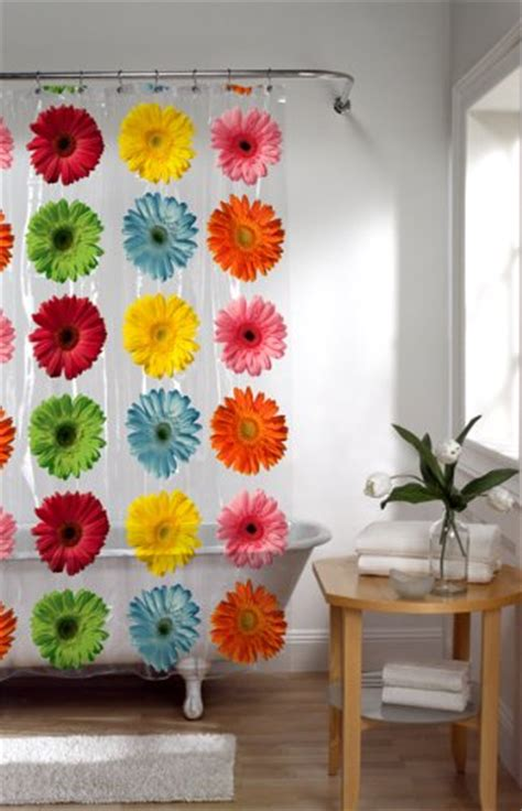 gerbera daisy shower curtain maytex gerbera daisy peva shower curtain new ebay