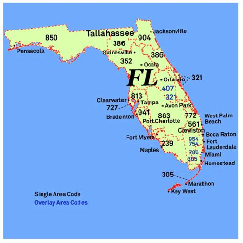 Area Code 813 Lookup Area Codes Florida