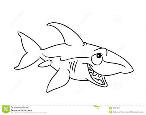 cartoon shark coloring page shark bo free coloring pages