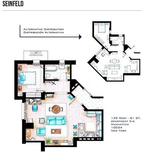 seinfeld apartment floor plan cinema style floor plans of the fictitious