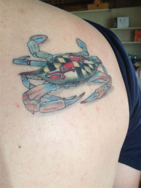 my maryland crab tattoo tattoos pinterest maryland