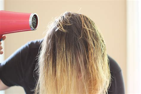 dry hair upside down xo noelle com beauty lifestyle motherhood hair