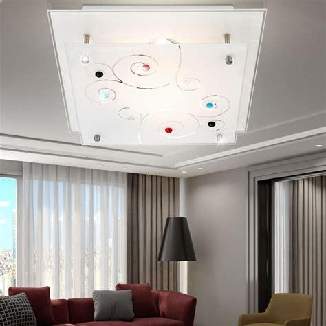 luminaire plafond chambre plafonnier chrome verre satin 233 233 clairage luminaire plafond