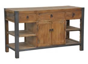 jaden iron leg reclaimed wood kitchen island