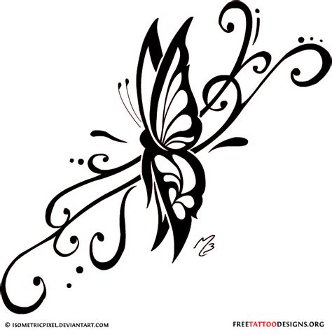 swirl design tattoos butterfly gallery