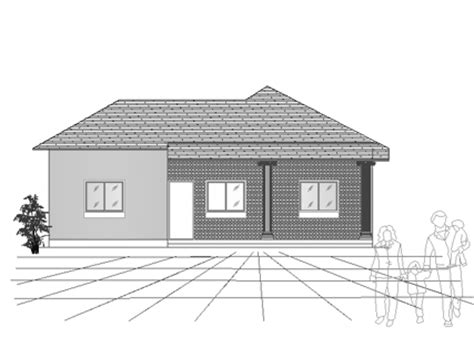 single story house elevation asian type three bedroom small house plan free download