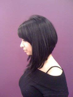 long angled bob only i would want it slightly longer in a line bob haircut with bangs love the cut hair