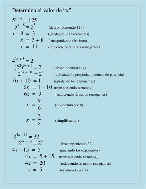 ejemplos de micro inductores de valor ejemplos de potencias hallar el valor de x