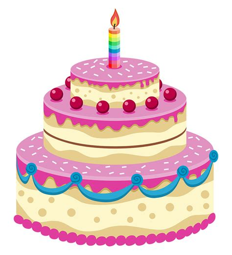 cartoon picture of a birthday cake clipart best
