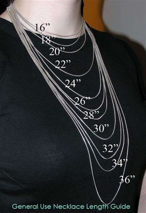 necklace length guide jewellery