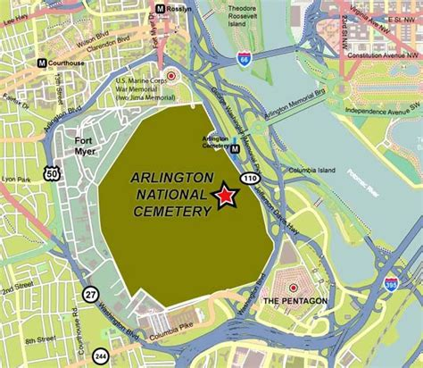 arlington national cemetery concierge maps information