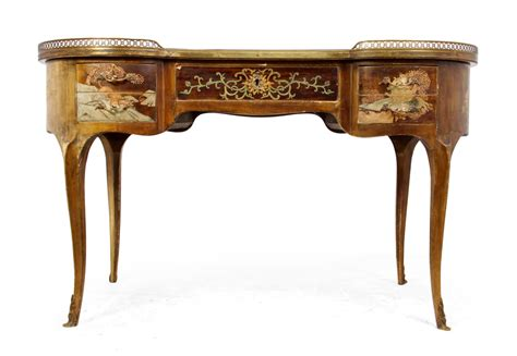 french writing desk for sale antique french chinoiserie kidney writing desk 1860s for