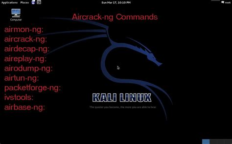 kali linux tutorial network basic kali linux commands and tools for wireless pen